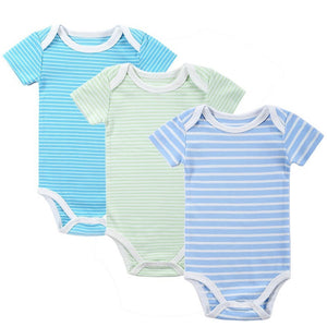 New 3PCS Baby Boy Rompers Baby Clothing Set Summer Cotton Baby Girl Boy Short Sleeve Car Printed Jumpsuit Newborn Baby Clothes - Shopatronics