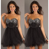 New Arrival Black Short Organza Homecoming dress 2016 Hot Sale Sequined Cocktail Prom Dresses Fast Shipping Cheap Price 2-16 - Shopatronics - One Stop Shop. Find the Best Selling Products Online Today