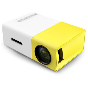 New Arrival YG300 Mini Portable LCD Projector 400 - 600 Lumens 320 x 240 Pixels 3.5mm Audio Interface Home Theater Media Player - Shopatronics