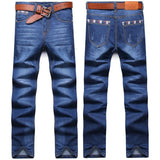 New Arrival spring summer thin straight denim jeans men plus size 28-38 casual men long pants trousers brand top denim jeans - Shopatronics