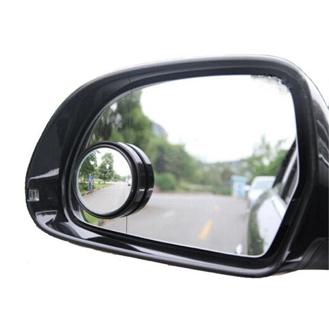 New Driver 2 Side Wide Angle Round Convex Car Vehicle Mirror Blind Spot Auto RearView for all car 2pcs per set - Shopatronics