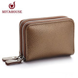 New Fashion Genuine Leather Women Card Holder Wallet High Capacity Credit Card Holders For Female Coin Purses Pillow Card Purse - Shopatronics - One Stop Shop. Find the Best Selling Products Online Today