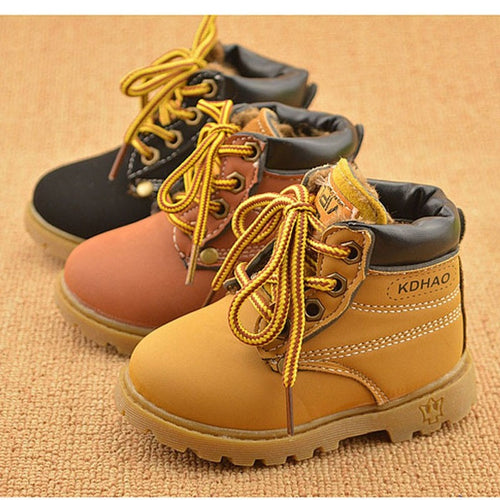 Baby Boots Boys & Girls Winter Leather Boots Baby Warm Snow Boots - Shopatronics - One Stop Shop. Find the Best Selling Products Online Today