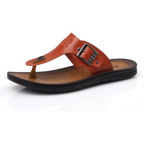 New Men Flip Flops 2016 Summer Slip-on Men sandals Soft Leather Casual Summer Beach Shoes Man - Shopatronics - One Stop Shop. Find the Best Selling Products Online Today
