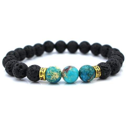 New Products Wholesale Lava Stone Beads Natural Stone Bracelet, Men Jewelry, Stretch Yoga Bracelet - Shopatronics