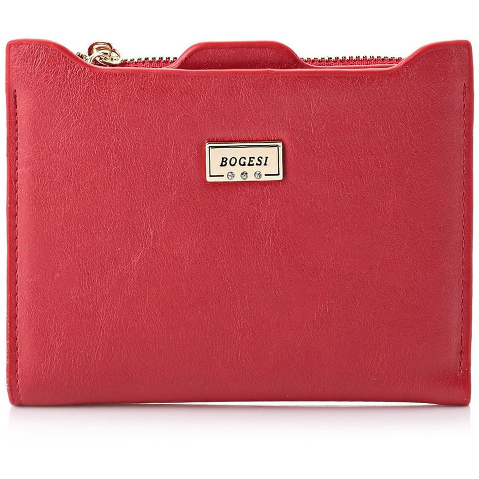 New Small Designer Slim Women Red Wallet Thin Zipper Ladies PU Leather Coin Purses Female Purse Mini Clutch Cheap Womens Wallets - Shopatronics