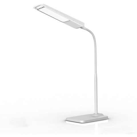 New arrive Gooseneck 6W LED Desk Lamp / 3-Level Dimmer, Touch-Sensitive Controller, Portable Lightweight Table Reading(White) - Shopatronics
