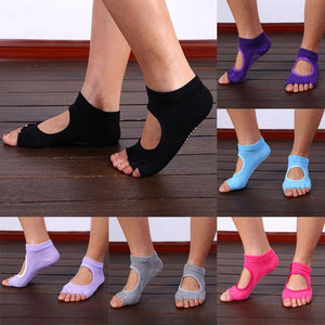 Newly Design High Quality Finger 5 Toes Cotton Breathable Ankle Women Sock Non-Slip Exercise Sports Pilates Massage Toe Socks - Shopatronics