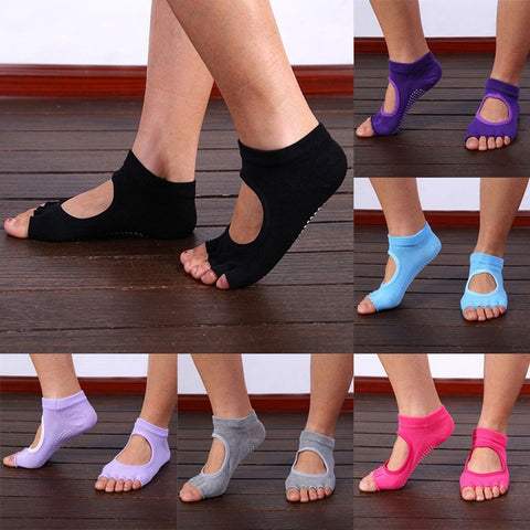 Newly Design High Quality Finger 5 Toes Cotton Breathable Ankle Women Sock Non-Slip Exercise Sports Pilates Massage Toe Socks - Shopatronics - One Stop Shop. Find the Best Selling Products Online Today