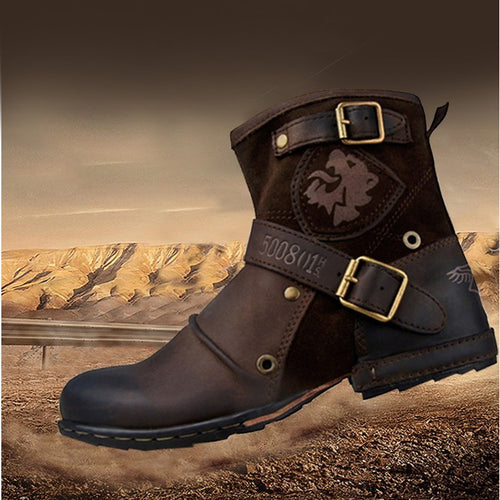 OTTO ZONE Top Quality Handmade Genuine Cow Leather Ankle Boots Fashion Martin Boots With Fur Men Winter Rivet Shoes EU 38-45 - Shopatronics - One Stop Shop. Find the Best Selling Products Online Today