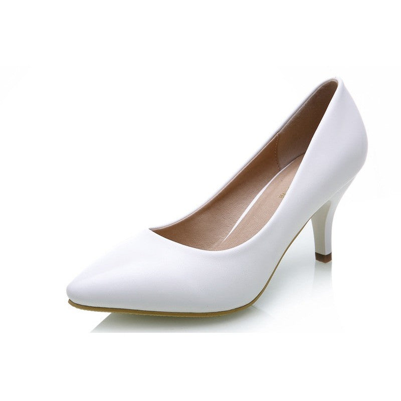 Office lady women high heels shoes Women's Pumps Bride Show Thin Heel Pointed Toe High Heel Shoes for office lady Women - Shopatronics