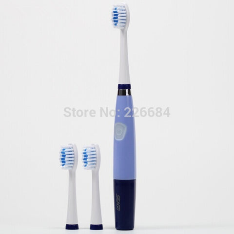 Oral Hygiene Ultrasonic Sonic Electric toothbrush for adults 23000 micro-brushes per minute 3 brush heads Seago SG-915 ABS/TBE - Shopatronics