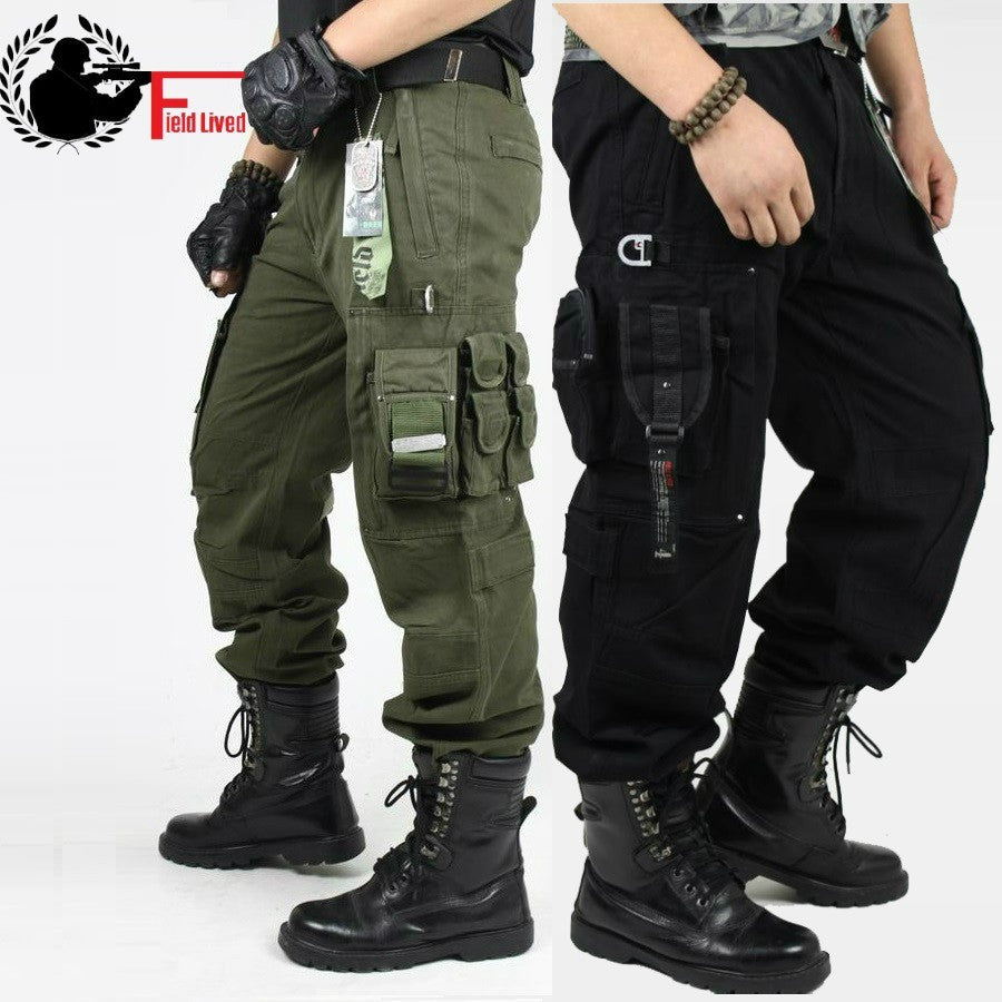 Men's Cargo Pants Millitary Clothing Tactical Pant Military Knee Pad Male Combat Camouflage Army Style Camo Trouser - Shopatronics