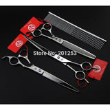 Pet Grooming Scissors Set 8 Inch Professional JP440C Dog Shears Hair Cutting Straight + Curved + Thinning Scissors LZS0378 - Shopatronics - One Stop Shop. Find the Best Selling Products Online Today