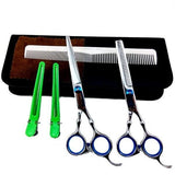 "Pro 6"" Salon Barber Hair Cutting & Thinning Scissors Shears Hairdressing Set Newest SM65 - Shopatronics"