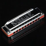 Professional Import Cooper Maple 10 Holes Tremolo Retro C Harmonic Musical Instruments Blues Mouth Organ Harp Melodica Harmonica - Shopatronics