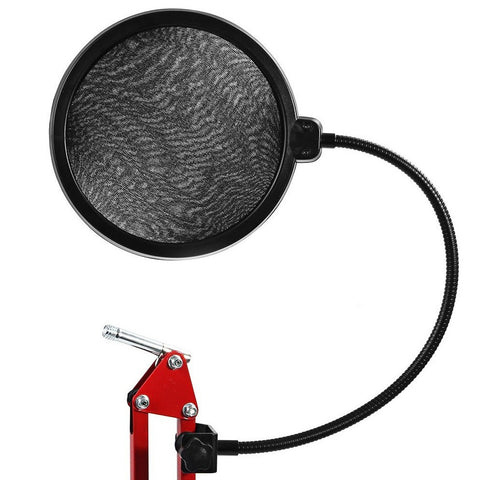 Professional Microphone Pop Filter Double Mesh Screen Windscreen Studio Equipment for Recording with Flexible Gooseneck Holder - Shopatronics - One Stop Shop. Find the Best Selling Products Online Today