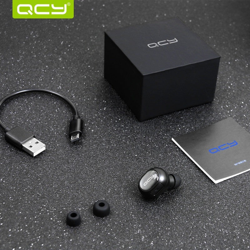 QCY Q26 Mini Bluetooth Earphone Wireless Music Handsfree Car Driver Headset Phone Stealth Earbuds Fone de ouvido With Microphone - Shopatronics