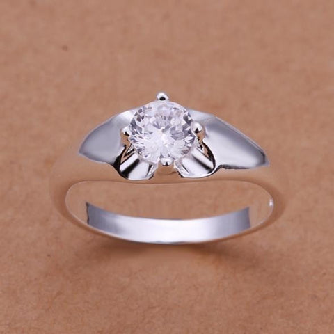Free Silver Plated Ring Silver Trendy Jewerly Exquisite Women's Ring Inlaid Crystal Jewelry - Shopatronics - One Stop Shop. Find the Best Selling Products Online Today