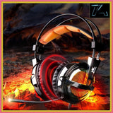 SADES A55 Gaming headset over ear headband wired headphone stereo volume control super bass LED light with Mic for computer game - Shopatronics