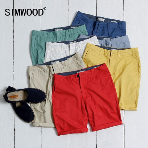 SIMWOOD Brand Clothing Mens Shorts 2016 Summer Fashion Casual Solid Cotton Slim Fit Short Pants Plus Size To Fit All - Shopatronics - One Stop Shop. Find the Best Selling Products Online Today