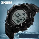 SKMEI Watches Men Pedometer LED Digital Watch Dive 50M Outdoor Sport Watch Student Black Clock relogio masculino Luxury Brand - Shopatronics