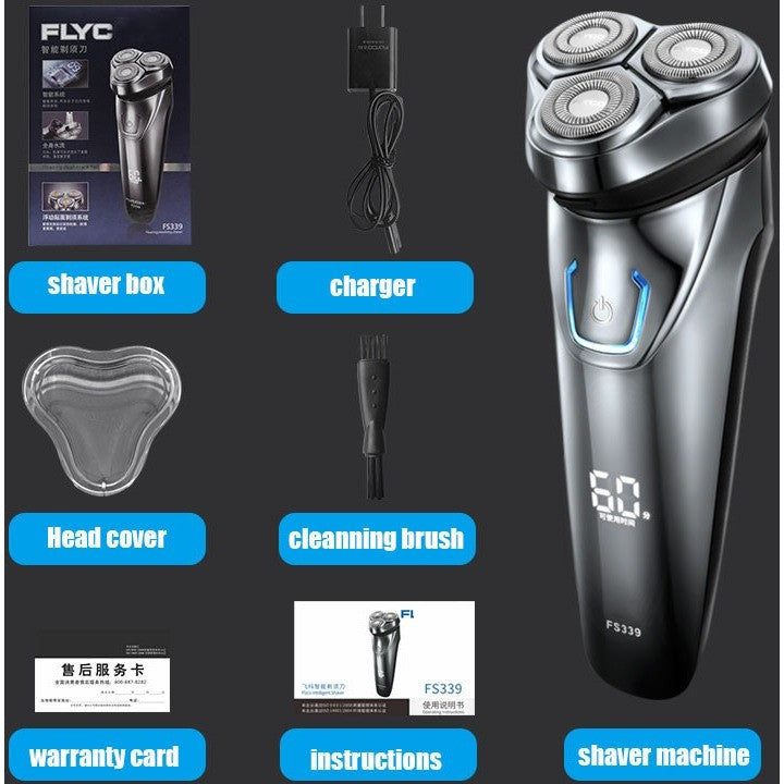 Shaving Machine 2016 New Men 3D Waterproof  Rechargeable Mens Electric Shaver 3 head shaver razor for philips technology FS339 - Shopatronics
