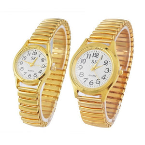 Simple Elegant Fashion Quartz Watch Elastic Steel Watch For Women Dress Watch Couple Lovers Watch - Shopatronics