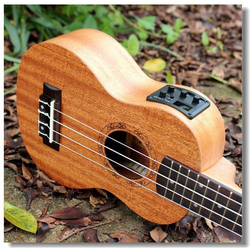 Soprano Acoustic Electric Ukulele 21 Inch Guitar 4 Strings Ukelele Guitarra Handcraft Wood White Guitarist Mahogany Plug-in Uke - Shopatronics