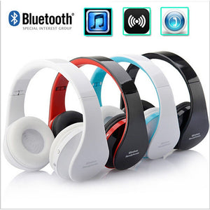 Stereo Handsfree Headfone Casque Audio Bluetooth Headset Earphone Cordless Wireless Headphone for Computer PC Aux Head Phone Set - Shopatronics
