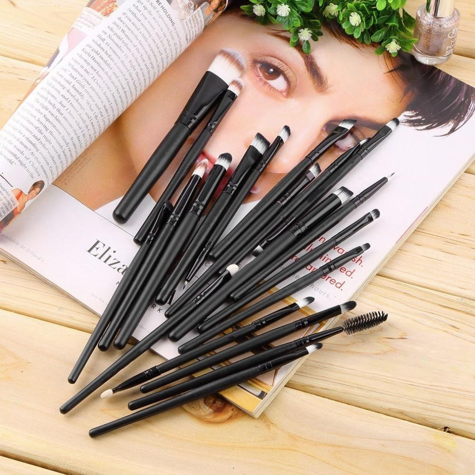 Stock Clearance !!! 20Pcs Print Logo Makeup Brushes Professional Cosmetic Make Up Brush Set The Best Quality! - Shopatronics