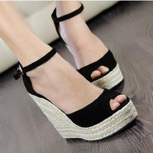 Superior Qality Summer style comfortable Bohemian Wedges Women sandals for Lady shoes high platform open toe flip flops Plus - Shopatronics