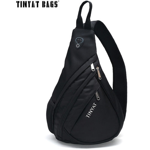 TINYAT Men Functional multilayer Bag Cool Casual Chest Bag Pack Morden Outside Large Capacity Messenger bag Pack T509 Black. Free Shipping - Shopatronics