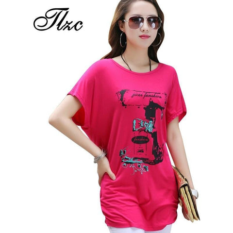 TLZC Cool Summer Lady Short Sleeve Loose T-Shirt  Large Size L-4XL 2016 Free & Flexible Print Women Fashion Design Tees - Shopatronics - One Stop Shop. Find the Best Selling Products Online Today