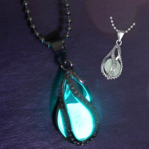 Free Glow in Dark Pendant Necklace Vintage Glowing Jewelry for Men NEW Fashion Women The Little Mermaid's - Shopatronics