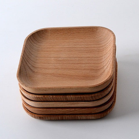Wooden Tableware Feeder Beech Wood Plate - Shopatronics