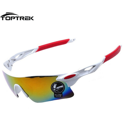 Toptrek Brand Men Sport Sunglasses UV400 Outdoor Sports Windproof Glasses Popular Style For Both Men&Women Sport Fashion 2016 - Shopatronics