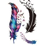 Trendy Waterproof Small Fresh Wild Goose Feather Pattern Tattoo Stickers - Photo Color Charming Body Accessories HB-0250 - Shopatronics