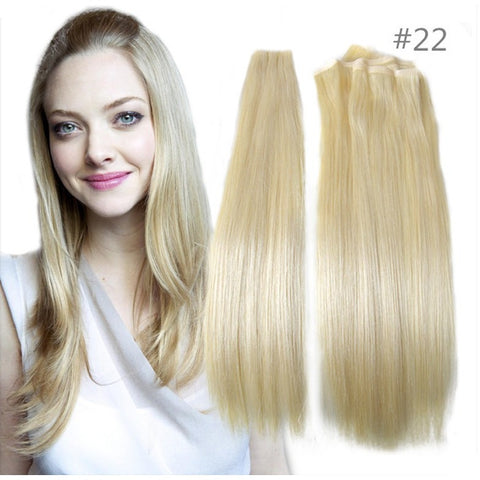 True Skin Weft PU Russian Cuticle Remy Human Hair Extensions Black Brown Blonde Hand Tied Straight Weft un-Tape Maded Hair Weave - Shopatronics