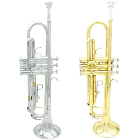 Trumpet Bb B Flat Brass Exquisite Design Durable Trumpet with Silver-plated Mouthpiece Mouthpiece Gloves and a Padded Box - Shopatronics - One Stop Shop. Find the Best Selling Products Online Today