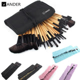 VANDER 32Pcs Set Professional Makeup Brush Set Foundation Eye Face Shadows Lipsticks Powder Make Up Brushes Kit Tools + Bag - Shopatronics