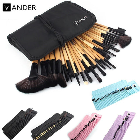 VANDER 32Pcs Set Professional Makeup Brush Set Foundation Eye Face Shadows Lipsticks Powder Make Up Brushes Kit Tools + Bag - Shopatronics - One Stop Shop. Find the Best Selling Products Online Today