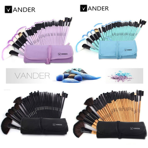 VANDER 32pcs Makeup Brushes Set Professional Cosmetics Brush Eyebrow Foundation Shadows Kabuki Make Up Tools Kits + Pouch Bag - Shopatronics - One Stop Shop. Find the Best Selling Products Online Today