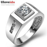 Vintage Jewelry Anel de Prata Men's Big Ring Created Diamond Sterling Silver Bijouterie Male Wedding Accessories Ulove J473 - Shopatronics - One Stop Shop. Find the Best Selling Products Online Today