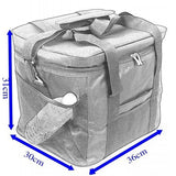 Waterproof Portable Fabric Thermal Lunch Cooler Bag Black Large Volume Men Outdoor Picnic Storage Bag 33L - Shopatronics