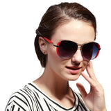 Women Oval Fashion Sunglasses - Shopatronics