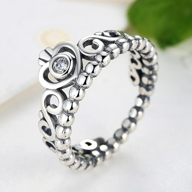 Wholesale 925 sterling Silver CZ Compatible with pandora rings Original classic queen Crown ring for women wedding jewelry - Shopatronics