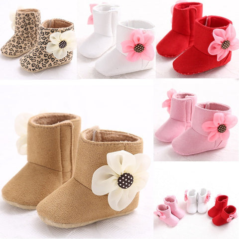 Winter Cute Kids Baby boys Girl Snow Boots  flower Ribbon Warm Baby Boots Shoes 0-18Months #W - Shopatronics - One Stop Shop. Find the Best Selling Products Online Today