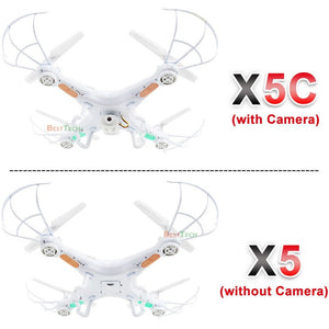 X5C RC Drone with 720P HD Camera Remote Control Quadcopter Helicopter 2.4G 6-Axis Profissional Dron / X5 Drones without camera - Shopatronics