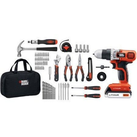 Black & Decker 68-Piece Project Kit with 20-Volt Lithium Drill/Driver, LDX120PK - Shopatronics - One Stop Shop. Find the Best Selling Products Online Today